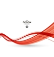 Abstract red wavy lines vector image
