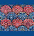 mandala pattern blue red with shadows vector image