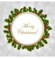 Christmas Composition With Sunburst vector image vector image