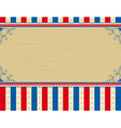 wooden usa background with stars and decorative fr vector image