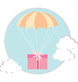 Parachute with girft vector image