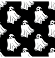 Seamless pattern of white Halloween ghosts vector image vector image