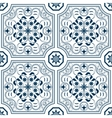 Seamless pattern with chinese ornament floral vector image vector image