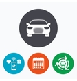Car sign icon Delivery transport symbol vector image
