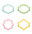 Colorful set of banners frames labels stickers vector image