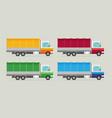 delivery transport truck van set flat vector image