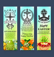 easter and paschal eggs banners set vector image