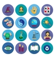 Fortune Teller Icons Flat vector image