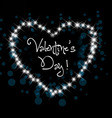 valentine greeting in night hearts card vector image