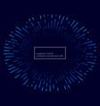 lines bursting outside blue theme background vector image