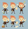 Businessman set cartoon vector image vector image