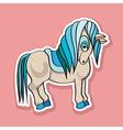 pretty horse sticker vector image