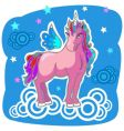 Unicorn pegasus vector illustration vector image