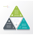 Business concept design with triangles vector image vector image