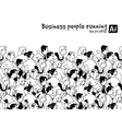 Crowd Business people running marathon black and vector image