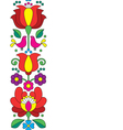 Seamless Kalocsai embroidery - Hungarian pattern vector image
