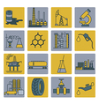 Chemical industry icon set Colour version design vector image
