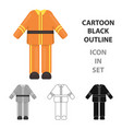 firefighter uniform icon cartoon single vector image