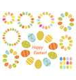 frames of color easter eggs - set vector image