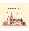 Frankfurt skyline linear style vector image