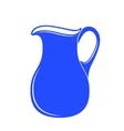 Milk jug or pitcher logo vector image
