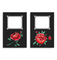 roses and frames posters set vector image
