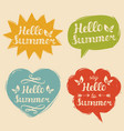 set say hello to summer in vector image