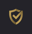 shield check mark logo icon design template vector image