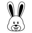 simple cartoon of a cute rabbit vector image