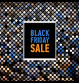 black friday sale poster on mosaic background vector image