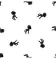 little pony pattern seamless black vector image
