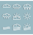 White weather Icons vector image vector image