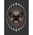 funky butterfly vector image vector image