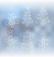 Doodle Christmas trees vector image