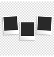 Photo frame on a transparent background vector image
