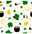 seamless saint patricks background vector image vector image
