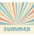 Summer Vintage background vector image