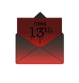 Friday the 13th banner in envelope vector image