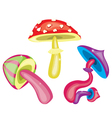 Toxic mushrooms vector image vector image
