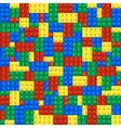 Background of plastic building blocks vector image vector image