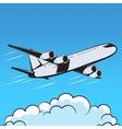 aircraft retro style pop art air vector image
