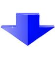 arrow shiny blue icon vector image
