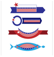 Banner flag American1 vector image