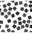 black and white dice pattern seamless vector image