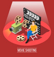 film shooting background concept vector image