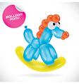 Glossy Balloon Pony vector image