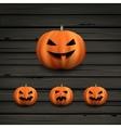 Haloween pumpkins vector image