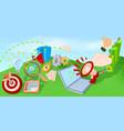 marketing horizontal banner cartoon style vector image
