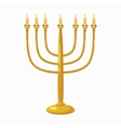 Menorah icon cartoon style vector image