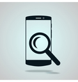 Modern flat phone search icon vector image